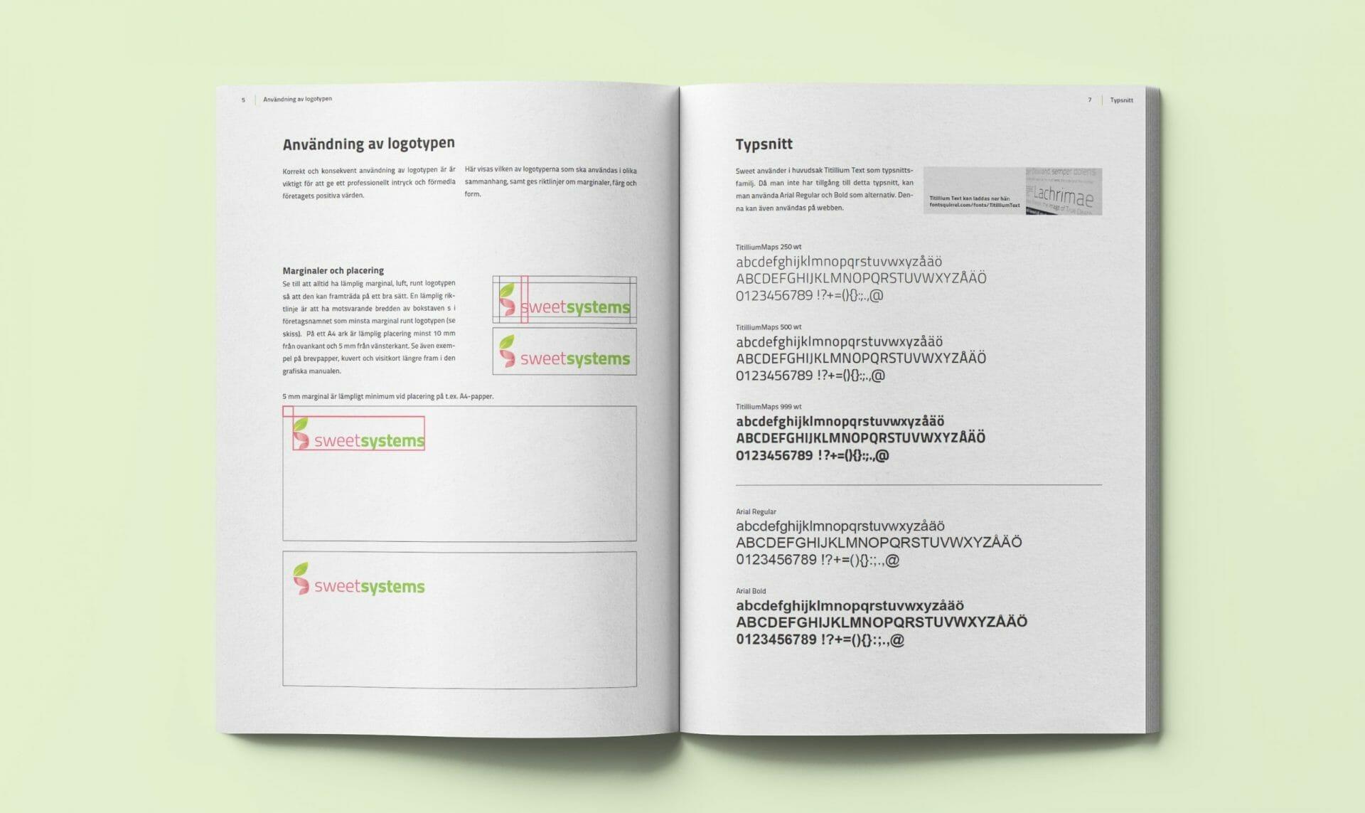 En professionell grafisk profil har nytta av en tydlig profilmanual.