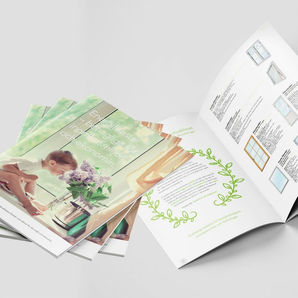 Design av broschyr och folder